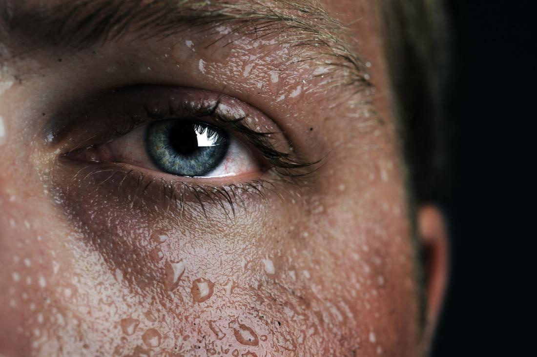 Sweaty person.